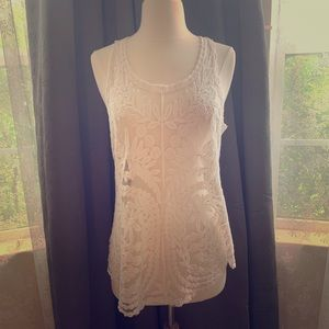 Cynthia Rowley Sheer Lace Tank Top - SizeM